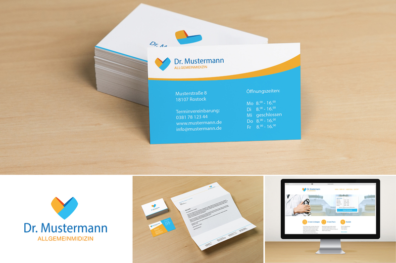 Arztpraxis Logo Visitenkarten Briefpapier Und Webseite